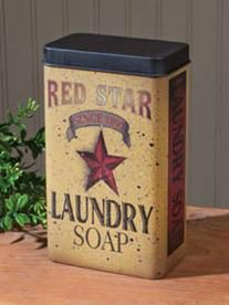 Look at this Red Star Laundry Soap Tin by Ohio Wholesale, Inc. Vintage Tins, Vintage Labels, Vintage Style, Vintage Packaging, Vintage Food, Vintage Kitchen, Vintage Art, Laundry Pegs, Antiques