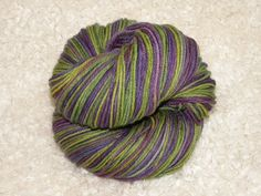 Hand Dyed Yarn Sport weight Superwash Merino by mustardseedyarnlab, $14.00