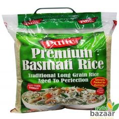 """Rice is used with so many dishes because it jazz up the meal and makes it even tastier. Finding Customary Long Grain Aged Rice is difficult but not if you use Pattu Premium Basmati Rice. Its Long Grain is Aromatic and Gluten Free Basmati Rice. Tended and harvested from the foothills of the Himalayas, this genuinely customary long grain Basmati Rice is conveyed to you by Pattu. It offers a unique sense of taste and also a remarkable taste with their particular """"nutty"""" taste."""