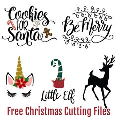 Free Christmas SVG files for crafts cards gifts