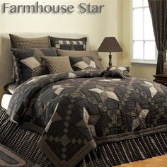 Farmhouse Star Patchwork Quilt Bedding Collection