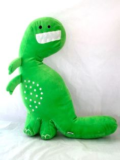 Green Dinosaur Plush Stuffed Animal 20 T-Rex Plush Pillow Tyrannosaurus Kas Kids #Asdescribed