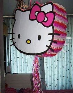 Parties are memorable with Hello Kitty birthday party. There are many Hello Kitty party supplies you can find so you have all the sources you. Hello Kitty Party Supplies, Hello Kitty Theme Party, Hello Kitty Themes, Hello Kitty Birthday, Piñata Hello Kitty, Hello Kitty Pinata, Birthday Pinata, Diy Birthday, Birthday Ideas