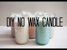 DIY No Wax Candle (Crisco, essential oils, optional - crayons for color - omit for wax free)