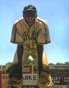 "Kadir Nelson, painting of James ""Cool Papa"" Bell, Homestead Grays."