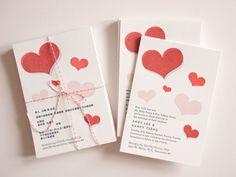 letterpress wedding invites by Lemonni