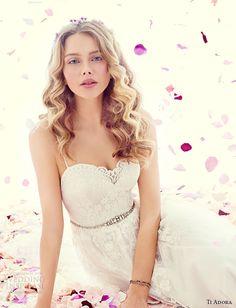 ti adora weding dress spring 2015 spagetti strap sweetheart neckline a line wedding dress 7500 esme