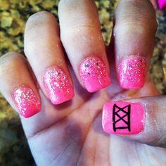 21st birthday nails! :)