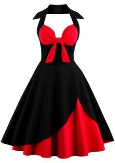 $18.49 Halter Two Tone Vintage Dress