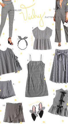 A estampa vichy é tendencia entre as fashionistas e desejo do meu armário! Por isso criei uma wishlist com as peças que mais estou desejando no momento!