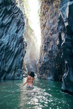 Alcantara Gorge near Taormina, Sicily. My parents took me here when I was little; I'd love to go back.