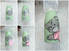 Step by step Tattered teddy Nailsbywad