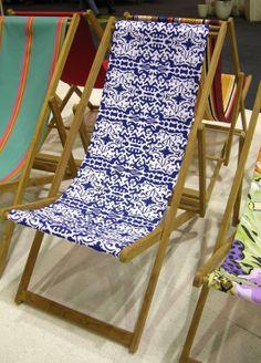Love a deck chair, what a great idea! Deck Chairs, Outdoor Blanket, Fabrics, Inspiration, Furniture, Ideas, Home, Decor, Beach Chairs