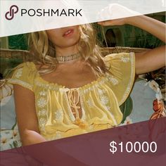 ISO FREE PEOPLE PAISLEY PARK TOP in medium ISO the paisley park top in YELLOW Free People Tops