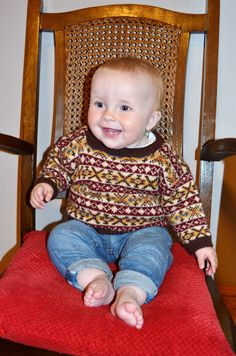 Annie Jumper, Designed by Sandra Manson. Kit available from Jamieson & Smith