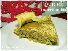 La cocina de Virtu: Quiche en el microondas, con receta.