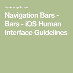 Navigation Bars - Bars - iOS Human Interface Guidelines