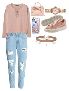 """Untitled #243"" by zaicute on Polyvore featuring MANGO, Mansur Gavriel, Casetify, Michael Kors and Miss Selfridge"