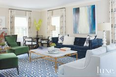Neutral Eclectic Living Room | LuxeSource | Luxe Magazine - The Luxury Home Redefined