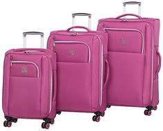 IT Luggage Megalite XWeave II 3 Piece Spinner Set Malaga >>> Visit the image link more details. Luggage Sets, Travel Luggage, Travel Bag, Cute Suitcases, Travel Accessories, Hair Accessories, Women's Fashion, Fashion Outfits, Baking Ideas