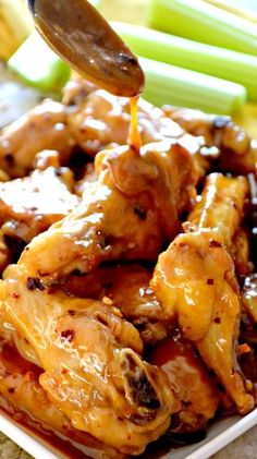 Spicy Peanut Butter & Honey Chicken Wings