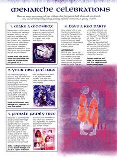 Book of Shadows:  #BOS Menarche Celebrations page.