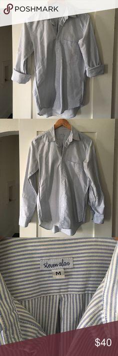 Selling this STEVEN ALAN striped button down on Poshmark! My username is: gelf202. #shopmycloset #poshmark #fashion #shopping #style #forsale #Steven Alan #Tops