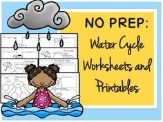 Water cycle worksheets and printables
