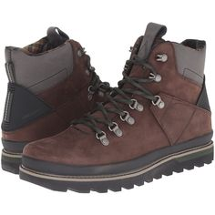 Volcom Outlander (Dark Brown) Men's Hiking Boots (6.535 RUB) ❤ liked on Polyvore featuring men's fashion, men's shoes, men's boots, brown, mens brown boots, mens rugged boots, mens boots, dark brown mens dress shoes and mens shoes