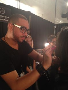 The best of the best using our pink sponge backstage at New York Fashion Week! #beautyblenderBackstage #NYFW