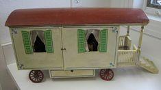Antique Gottschalk German Wooden dollhouse Caravan