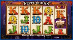 Pistoleras is a 25-line and 5-reel video slot with 3 beautiful but dangerous female characters that are after your treasures. Match them in the Saloon Bonus to win instant prizes and watch them stack on top of each other in the Free Spins with a 3x multiplier!  More this way...    http://www.casinocashjourney.com/microgaming-slots/pistoleras.htm