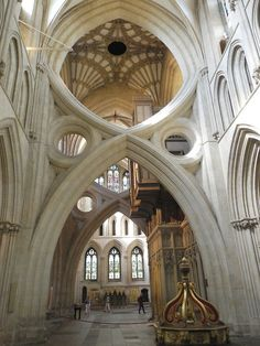 Scissor Arches at Wells Cathedral, Somerset, England