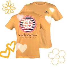 NWOTSimply Southern tee Super cute short sleeve tee by Simply Southern. New without tags. I purchased the wrong size unfortunately. Flawless! Reasonable offers welcome through the offer button only. NO trades Simply Southern Tops Tees - Short Sleeve