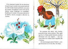 Monique Gorde. French illustration. Vintage illustration. Children's vintage book.