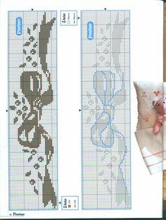 From Semplicemente Ketti Cross Stitch Boarders, Cross Stitch Baby, Cross Stitching, Cross Stitch Embroidery, Cross Stitch Patterns, Crochet Patterns, Tapestry Crochet, Monochrom, Loom Beading