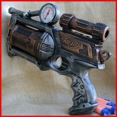 Steampunk Nerf gun for Sam