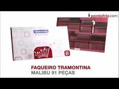 #Faqueiro Tramontina Malibu 91 Peças - Inox
