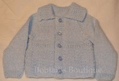 Toddler Boys Cardigan, Baby Boys Cardigan, Child's Cardigan, Collared Cardigan, Style 17, Made To Order, Merino Wool, Your Choice Of Colour by BobtailsBoutique on Etsy