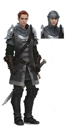 "Fantastic female fighter in realistic armor. Concepts for ""The Lord of the Rings…"
