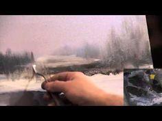 """▶ FREE! Full video """"Winter Landscape"""" painter Igor Sakharov - YouTube"""