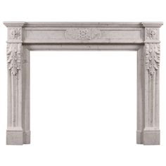 19th Century French Louis XVI Style Antique Marble Fireplace   From a unique collection of antique and modern fireplaces and mantels at http://www.1stdibs.com/furniture/building-garden/fireplaces-mantels/