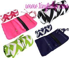 tinytulip.com - Monogrammed Chevron Mini Cosmetic Roll Up Bag, $16.50 (http://www.tinytulip.com/monogrammed-chevron-mini-cosmetic-roll-up-bag)