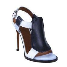 Givenchy Sandales à talon en cuir - bicolore