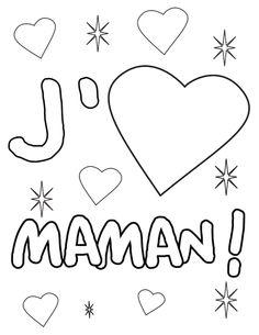 Coloriage J'aime Maman