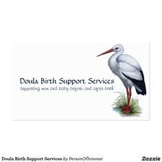 Doula Birth Support Services Business Card