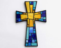 Mosaic Wall Cross - Large - Shades of Brown + Textured Bronze + Copper Glass Handmade Stained Glass Mosaic Cross Wall Decor x Mosaic Diy, Mosaic Wall, Mosaic Glass, Stained Glass, Glass Art, Mosaic Crosses, Wall Crosses, Mosaic Company, Christmas Mosaics