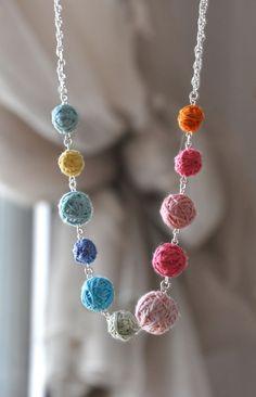 Bubble Necklace Bib Necklace Statement Colorblock Necklace