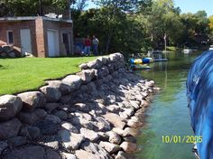 Retaing Rock Wall On Lakefront