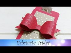Envelope Punch Board Bow & Gift Holder featuring Stampin' Up! Products - YouTube